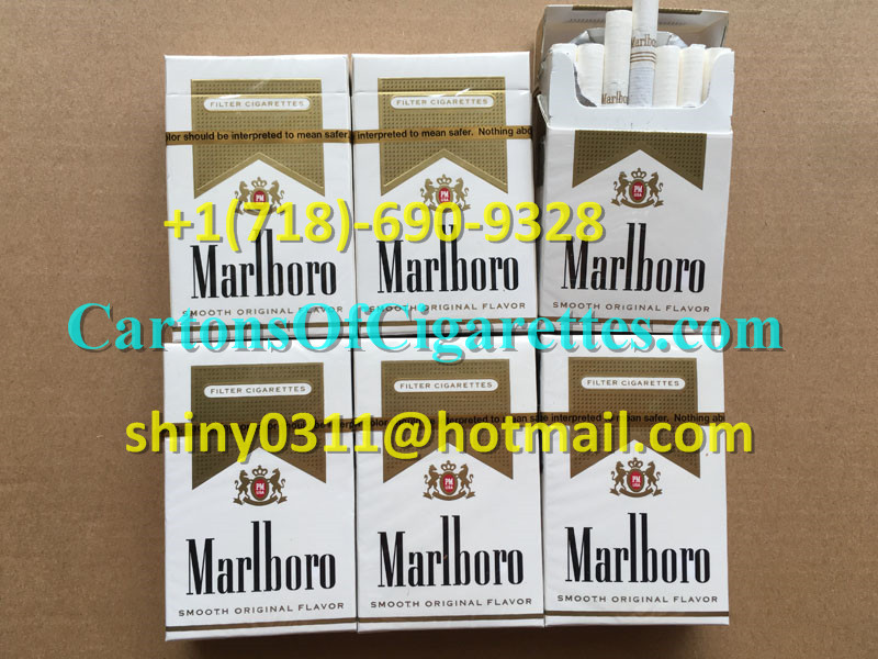 3 Cartons Of Marlboro Gold Regular Cigarettes